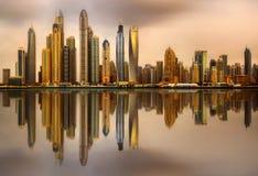Dubai Marina bay, UAE Stock Photography