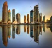 Dubai Marina bay, UAE Stock Images