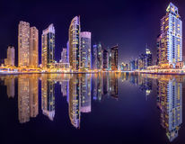 Dubai Marina bay, UAE Stock Photo
