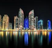 Dubai Marina bay, UAE. Panoramic view of Dubai Marina bay, UAE Stock Photography