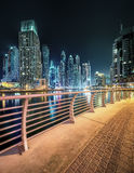 Dubai Marina bay, UAE. Panoramic view of Dubai Marina bay, UAE Royalty Free Stock Image
