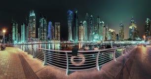 Dubai Marina bay, UAE. Panoramic view of Dubai Marina bay, UAE Royalty Free Stock Photography