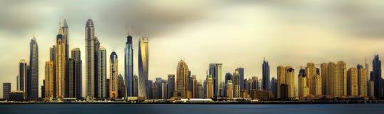 Dubai Marina bay, UAE. Panoramic view of Dubai Marina bay, UAE Stock Photos