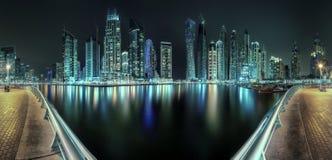 Dubai Marina bay, UAE. Panoramic view of Dubai Marina bay, UAE Stock Photo