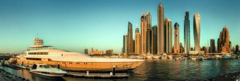 Dubai Marina bay, UAE. Panoramic view of Dubai Marina bay, UAE Stock Image