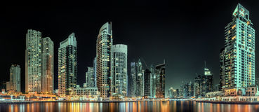 Dubai Marina bay, UAE Royalty Free Stock Photography