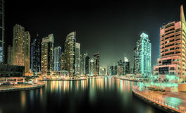 Dubai Marina bay, UAE Stock Photography