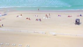 Dubai marina beach 4k time lapse stock video