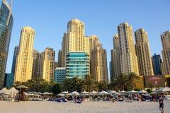 Dubai marina beach view Stock Photography