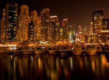 Dubai Marina Boats Stock Photo