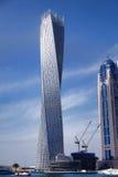 Dubai marina with boats in  United Arab Emirates Stock Photo