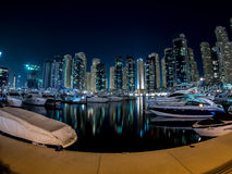 Dubai Marina boats Royalty Free Stock Images