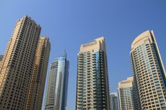 Dubai Marina Buildings Stock Photos