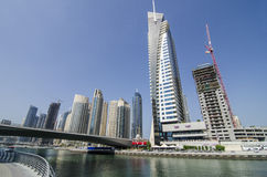 Dubai marina buildings Stock Photography