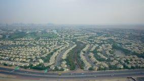 Dubai marina city view time lapse stock footage