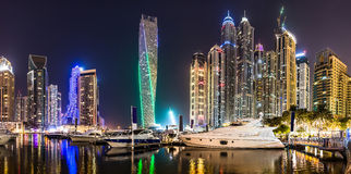 Dubai Marina cityscape, UAE Stock Photos