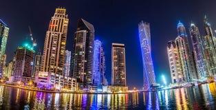 Dubai Marina cityscape, UAE Royalty Free Stock Photography