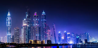 Dubai Marina cityscape, UAE Stock Photography