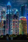 Dubai Marina cityscape, UAE Royalty Free Stock Photo