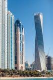 Dubai Marina. Close side view Royalty Free Stock Image