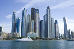 Dubai marina day Stock Photography