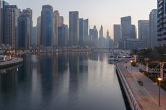 Dubai Marina district at morning Royalty Free Stock Photo