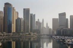 Dubai Marina district at morning Stock Photography