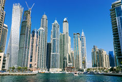 Dubai marina, Dubai UAE Arkivfoto