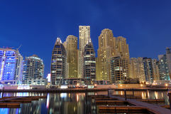 Dubai Marina at dusk Royalty Free Stock Images