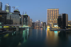 Dubai Marina at dusk Royalty Free Stock Image