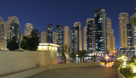 Dubai Marina at dusk Royalty Free Stock Image