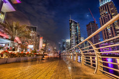 Dubai Marina at Dusk in United Arab Emirates Stock Images