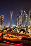 Dubai Marina at Dusk in United Arab Emirates Royalty Free Stock Image