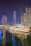 Dubai marina in the evening, United Arab Emirates Stock Photo