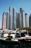 Dubai marina, Förenade Arabemiraten Royaltyfri Fotografi