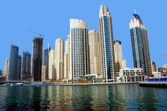 Dubai marina, Förenade Arabemiraten Fotografering för Bildbyråer