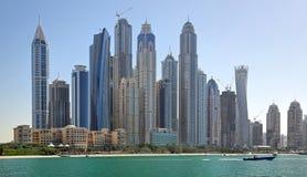 Dubai marina (Förenade Arabemiraten) Royaltyfria Bilder