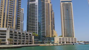 Dubai marina gulf bay sunny day view 4k uae. Uae dubai marina gulf bay sunny day view 4k stock video