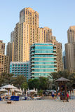 The Dubai Marina Hilton hotel building Royalty Free Stock Image