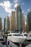 dubai marina jachty zdjęcie royalty free