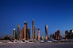 Dubai Marina with JBR, Jumeirah Beach Residences, UAE Royalty Free Stock Image
