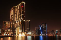Dubai Marina Mall. And The Address hotel Stock Photos
