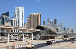 Dubai Marina Metro Station Royalty Free Stock Images