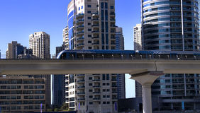 Dubai marina metro, Royalty Free Stock Images