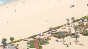 Dubai marina morning beach view 4k time lapse stock video footage