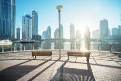 Dubai Marina at morning Royalty Free Stock Photography