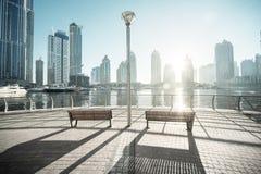 Dubai Marina at morning Stock Photo