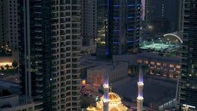 Dubai Marina Mosque almacen de metraje de vídeo
