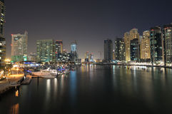 Dubai Marina at night Royalty Free Stock Photography