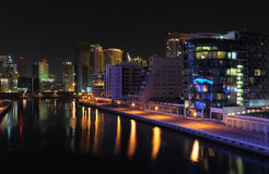 Dubai Marina at night Royalty Free Stock Image
